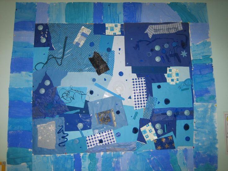 le bleu- collage https://www.google.com/search?q=arts visuels maternelle la mer