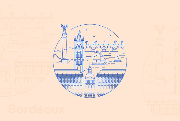 Set of 5 illustrations of 5 French cities created for Sony #XploreCity project. The goal was to create simple, stamp-like illustrations based on recognizible landmarks from each city: Paris, Marseille, Lyon, Bordeaux and Toulouse.