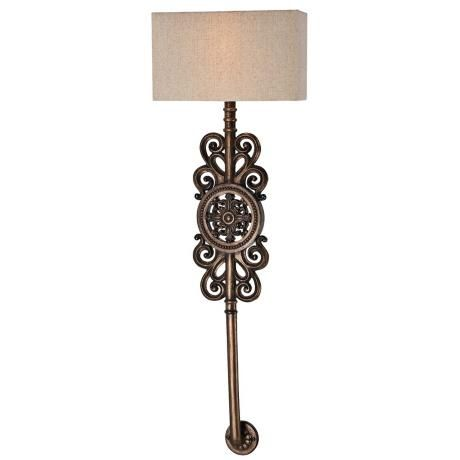 Regents Row 36 1 2 High Patina Bronze Wall Sconce