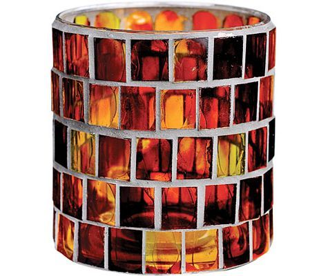 Mosaic Candle Holder - Fall Table Decorations - Fall Theme Party - Theme Parties - Categories - Party City