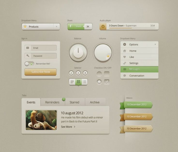 PSD File 5 best free combination UI Pack