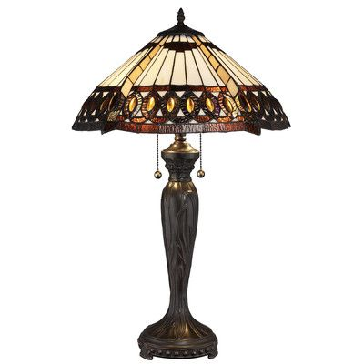 """Loon Peak Jace 25"""" Table Lamp Bulb: 2 x 60W Compact Fluorescent (CFL)"""