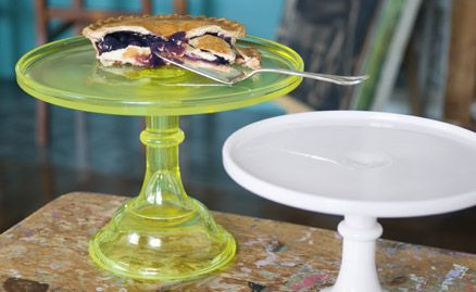 This is the one that caught my eye! or maybe it was the pie ;) haha  Cake Stands, Glass Cake Stands | Fishs Eddy - via http://bit.ly/epinner