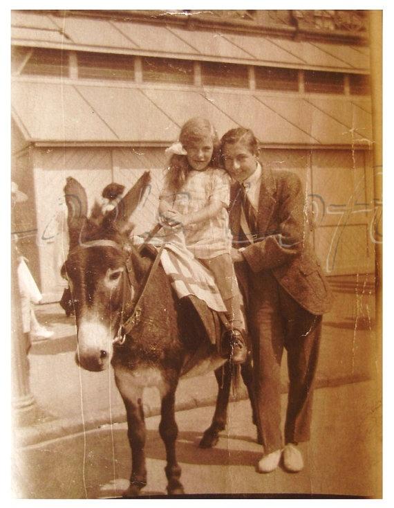 vintage antique photo seaside donkey ride donkey. Black Bedroom Furniture Sets. Home Design Ideas