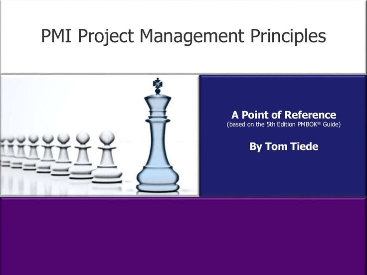 PMI Project Management Principles by tltiede via slideshare