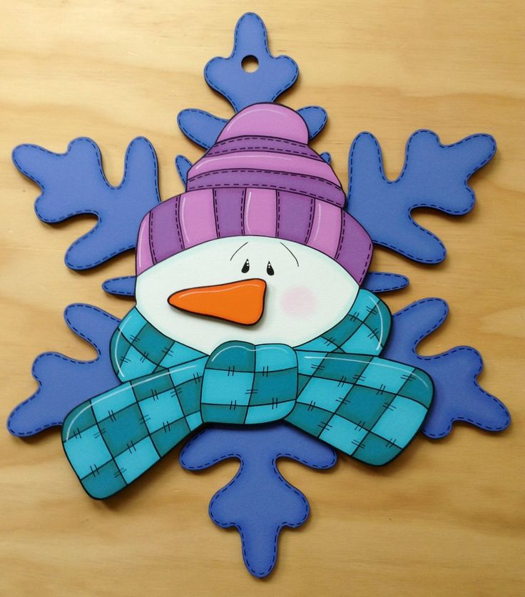 CHRISTMAS / WINTER SNOWMAN SNOWFLAKE CLIP ART