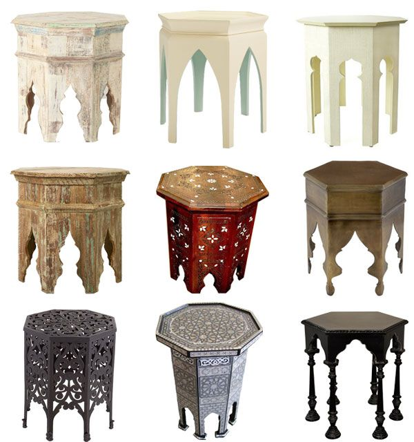 Moroccan Style Tables Furniture Lighting Design Pinterest