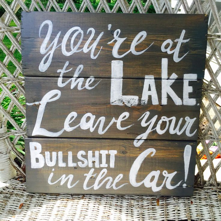 Welcome To The Lake Signs Decor Beauteous Best 25 Lake House Signs Ideas On Pinterest  Lake House Inspiration