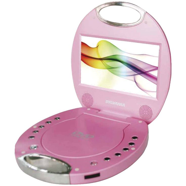 "SYLVANIA SDVD7046-PINK 7"" Portable DVD Players with Integrated Handle (Pink)"