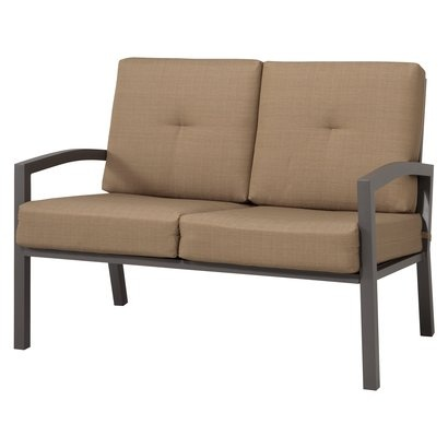 Target Home Smithwick Metal Patio Loveseat Taupe Opens