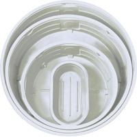 920 Gallon White Round White Stock Tank w/1-1/2 Drain Plug 106 x 29 | U.S. Plastic Corp.