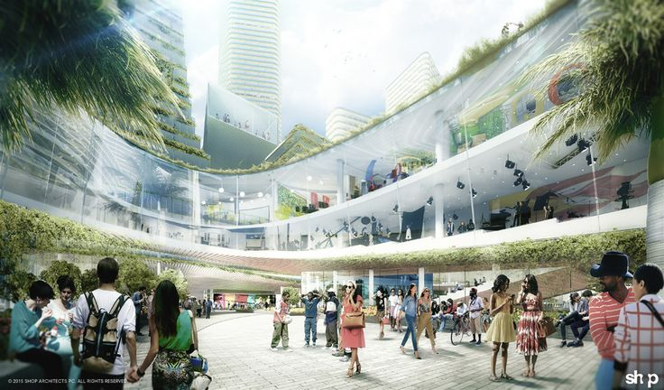 "Image 1 of 3 from gallery of SHoP and West 8 Propose New ""Innovation District"" for Miami. Photograph by SHoP Architects"