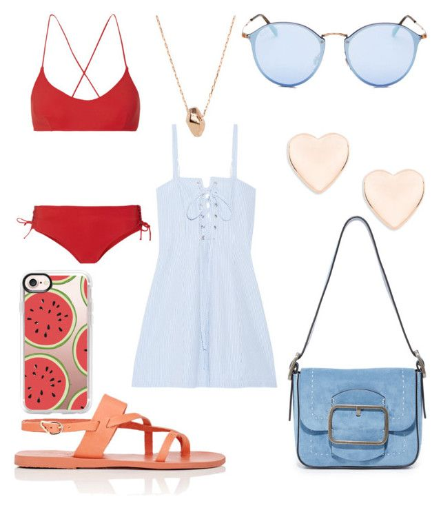 """""""Suggested Items #3"""" by thegreendino ❤ liked on Polyvore featuring Emma Pake, Casetify, Ancient Greek Sandals, Ray-Ban, Tory Burch, Solid & Striped, Ted Baker and Gemma Crus"""