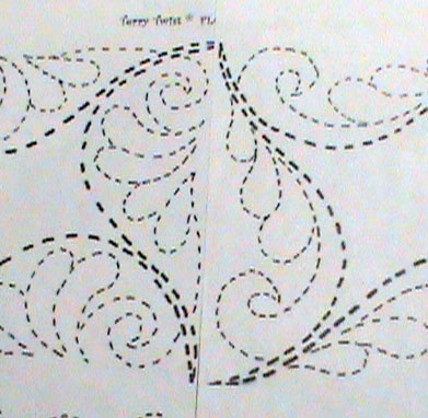 using a different pattern from the Terry Twist Pattern Pack on either side of the seam