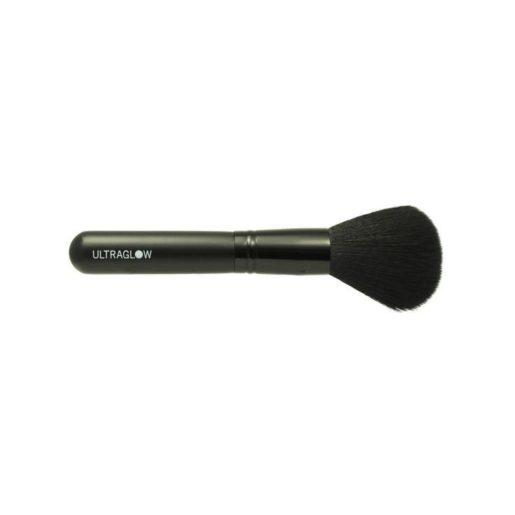 Large Ultra Glow Powder Brush with dense full head for bronzing powder application. SuperSoft synthetic hair is specially made for powder retention and blending over a wide area.