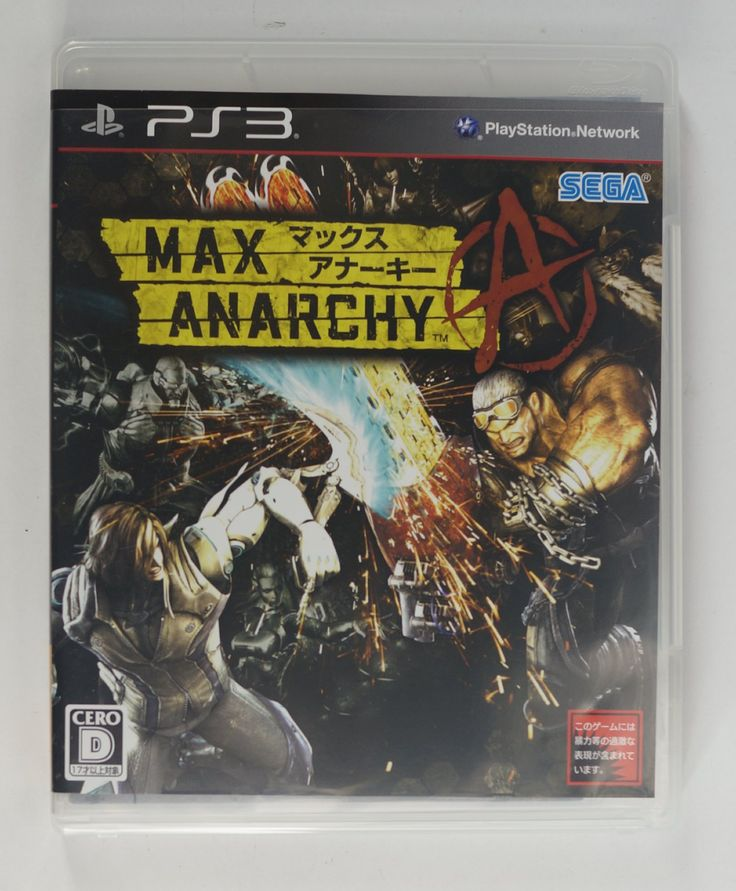 PS3 Japanese : Max Anarchy BLJM-60305 http://www.japanstuff.biz/ CLICK THE FOLLOWING LINK TO BUY IT ( IF STILL AVAILABLE ) http://www.delcampe.net/page/item/id,0375774436,language,E.html
