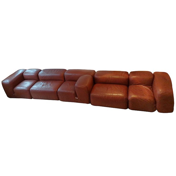 De Sede sofa in 5 brown leather elements