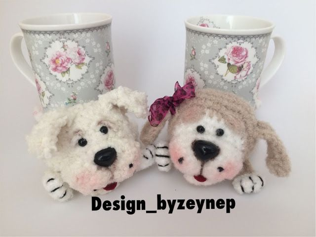 Leithygurumi: Çooook Şirin Amigurumi Köpek Bardak Altlıkları Türkçe Tarif / Cute Amigurumi Puppy Cup Mat English Pattern