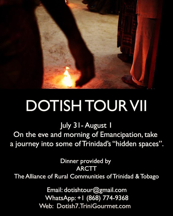 Really looking forward to taking part in this experience again! Just a few days left to register  Check the link in my bio for more details and I'll be sharing some pics from last year's sojourn!  DOTISH TOUR VII OFFERS UNIQUE GLIMPSE INTO TRINIDADS EMANCIPATION HERITAGE.  Stepping into an African Nation Dance. Sharing dinner on the East Coast. Giving thanks at a First Peoples smoke ritual in Arima.  These are just a few of the experiences that patrons of Dotish Tour VII will experience as…