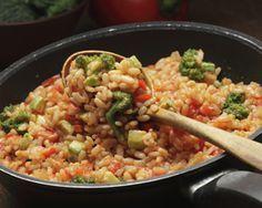 Arroz integral-cateto com tomate e abobrinha