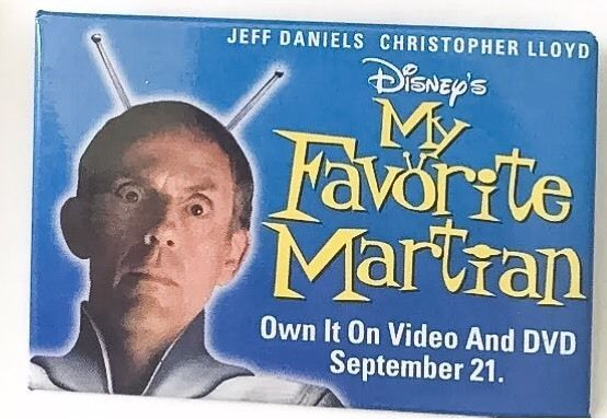 Disney's My Favorite Martian Promotional Pin Button Movie Christopher Lloyd