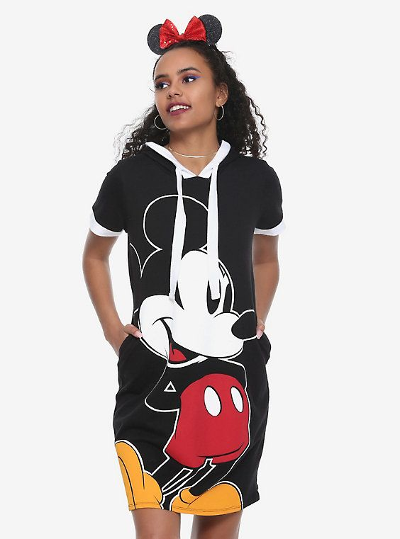 Disney Mickey Mouse Face Hooded Dress