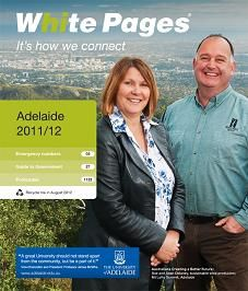 on the white pages!!