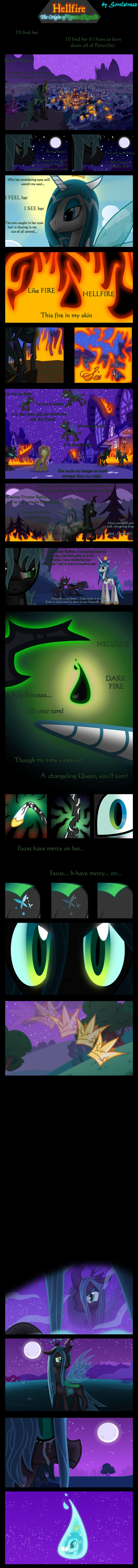 Hellfire: The Origin of Queen Chrysalis by Sorelstrasz.deviantart.com on @deviantART