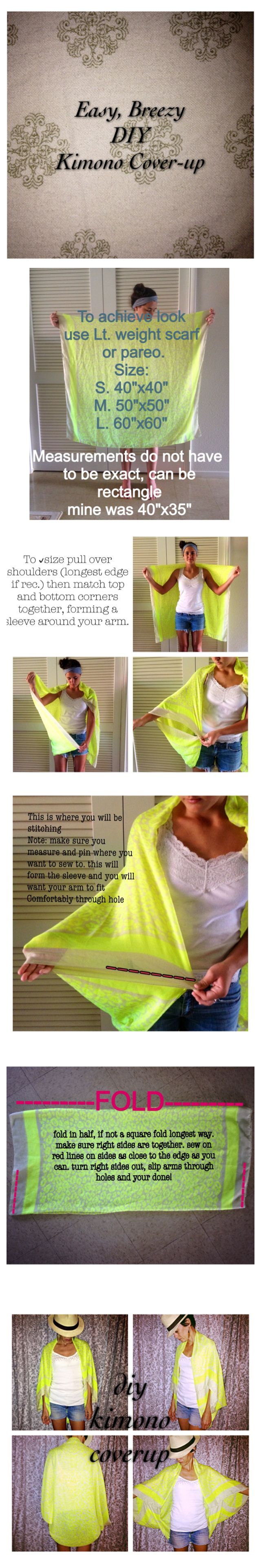 DIY, easy, breezy, kimono cover-up!! Check us out on Facebook! Like our FB page HomesewN Kauai