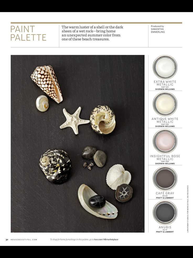 Sea Inspired Paint Palette via House Beautiful