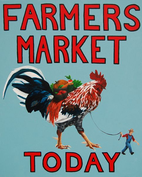 Farmers Market Poster. Would look good in a frame.