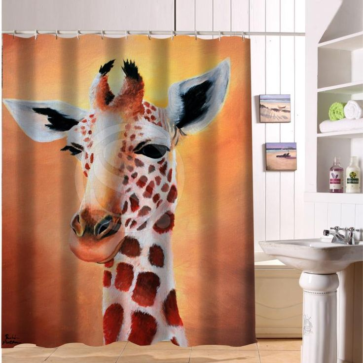 The giraffe Fabric Modern Shower Curtain bathroom Waterproof  LF22