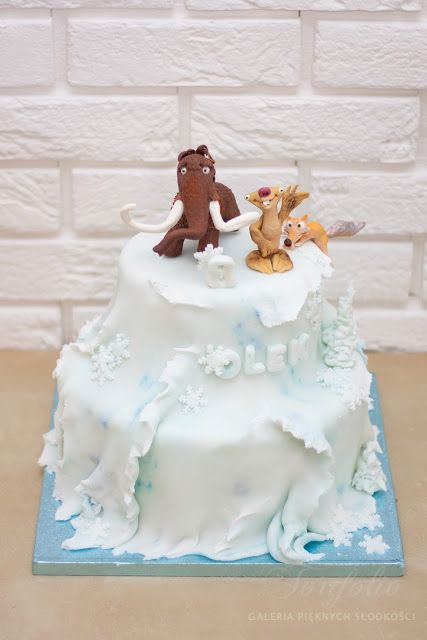 Ice Age cake for Olek  all figures are hand-made from sugar paste, all edible - my awesome work