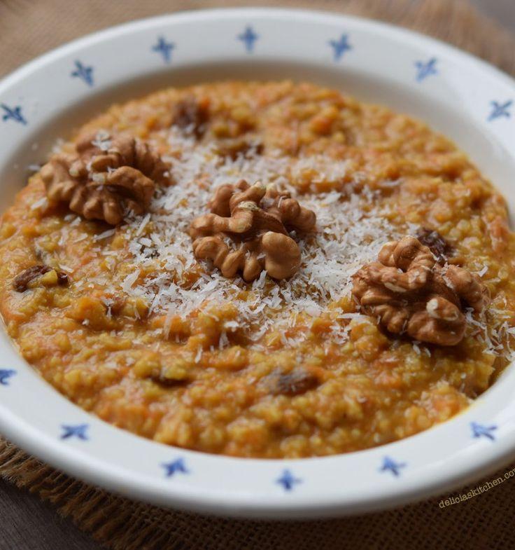 Porridge de mijo, zanahoria y especias