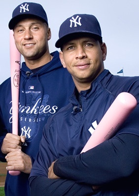 """MLB and the Yankees have joined the fight against Breast Cancer. Usually around Mother's Day the players join the fight and sport their pink attire. They also select an honorary bat girl from a slew of entries. So many people are affected in some way with cancer."""