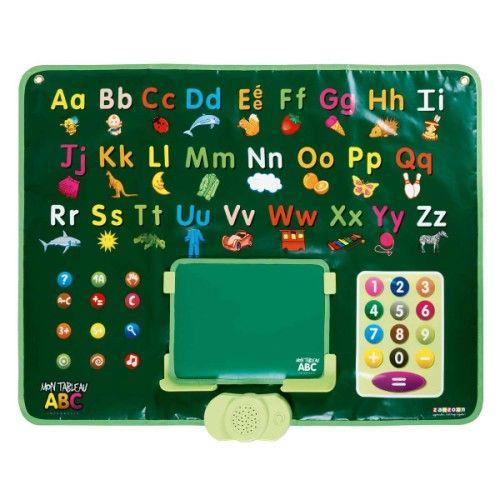 Un grand tableau plastifié pour jouer à reconnaître les lettres et les chiffres et se corriger grâce au système interactif intégré au tableau. Des comptines à écouter et chanter et des questions simples pour les 3-4 ans puis 750 questions pour les plus grands de 5 à 8 ans pour apprendre l'orthographe des mots, reconnaître les sons et compter les syllabes, identifier les chiffres, additionner et soustraire... et écrire sur l'ardoise guidé par le tableau magique.   40EUROS