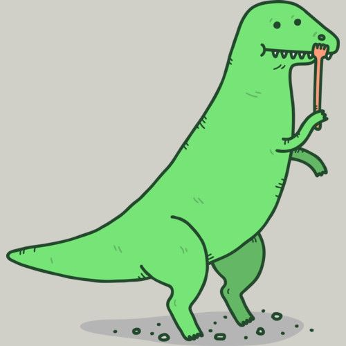 T-Rex Gets An Itch is a Men's T Shirt designed by Haasbroek to illustrate your life and is available at Design By Humans