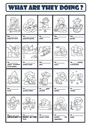 Students fill in the gaps with the right form of the given verbs. - ESL worksheets