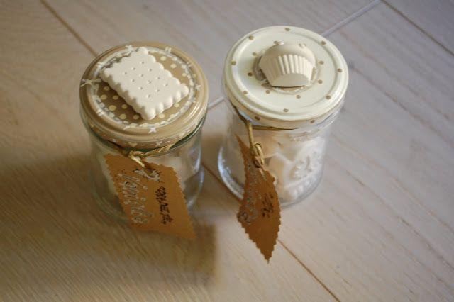 """CUORE&COCCOLE by Francy: """"Bomboniera"""" gessi profumati alla vanigliia."""