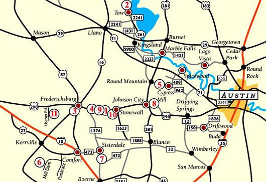 Map Of Texas Hill Country Cities.Texas Hill Country Winery Map Business Ideas 2013