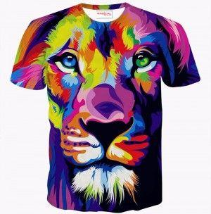 ARTYSTYCZNY LEW Koszulka Tshirt Full Print