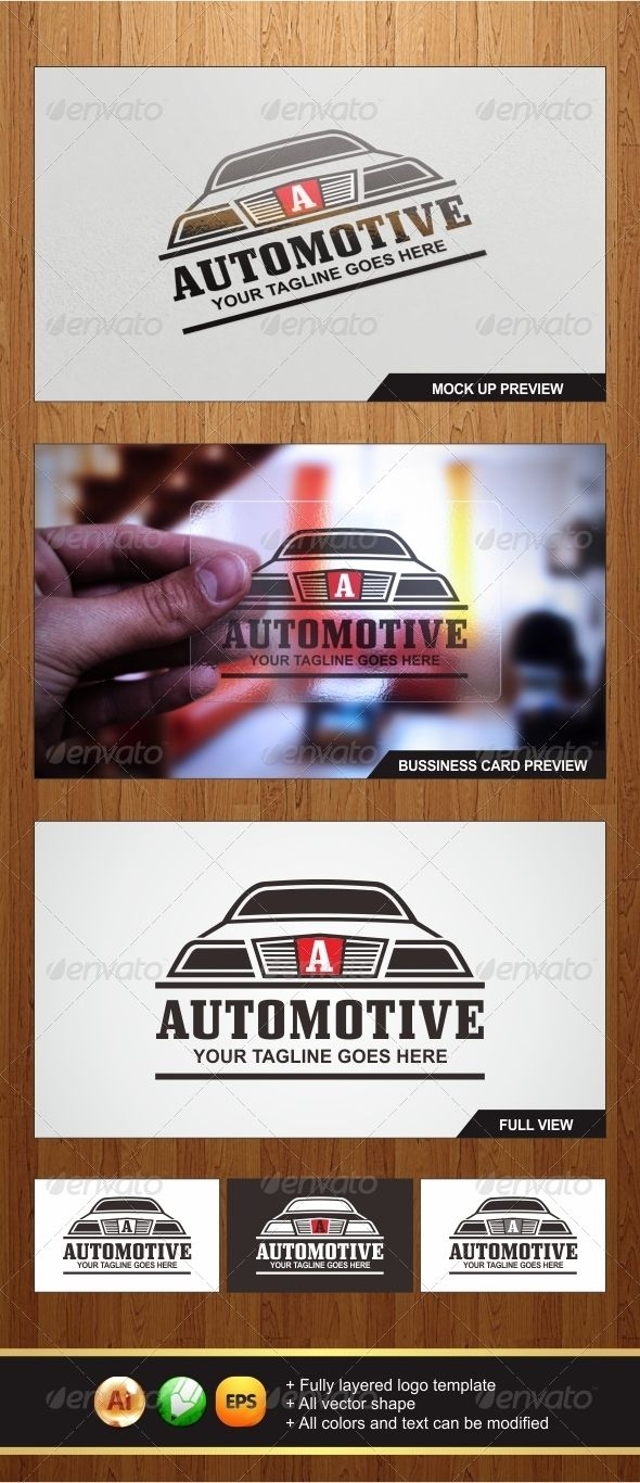Automotive Logo  #GraphicRiver        An Amazing Multipurpose Automotive logo template