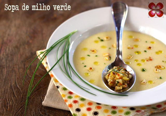 Sopa Cremosa de milho verde.