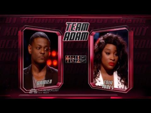 Damien VS Toia Jones  - The Voice Knockout Round 2014 ...season 7...How do I live without you? Of course he wins hands down!