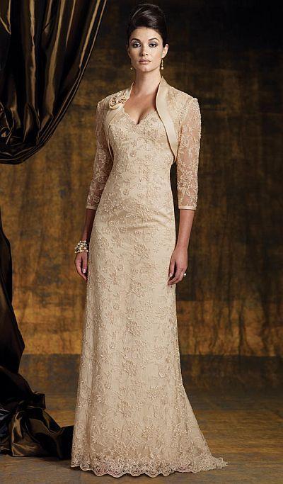Mother Of The Bride Dresses   Montage Boutique Mother of the Bride Dress with Lace Bolero 112942 ...