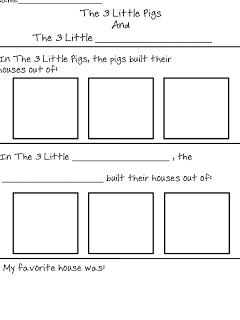 First Grade Fanatics: The Three Little Pigs