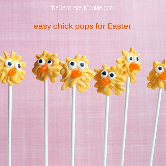Fun for Kids: easy candy chick pops for Easter