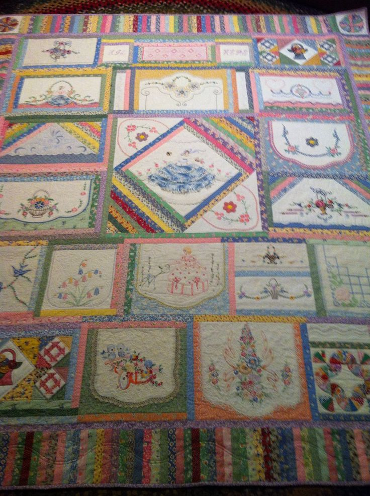 Best embroidered quilts ideas on pinterest the