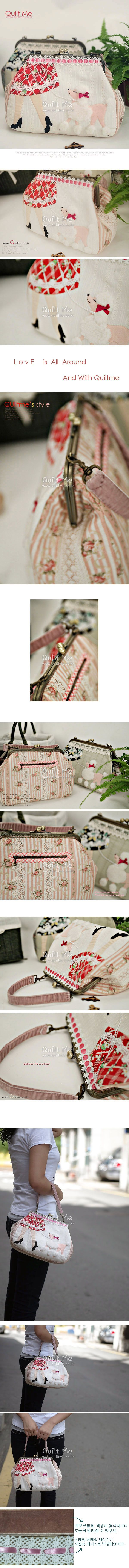 beautiful frame purse with applique