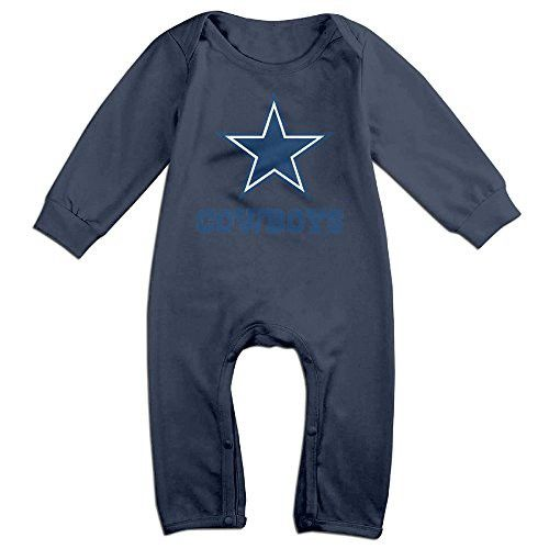 Cotton Kids Infants Long Sleeve Onesies Toddler Bodysuit Navy Cowboys Logo Climbing Clothes